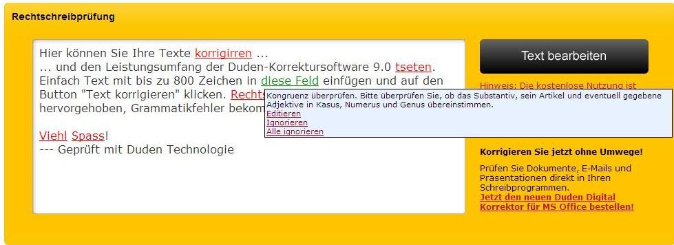 corrector ortográfico alemán Duden