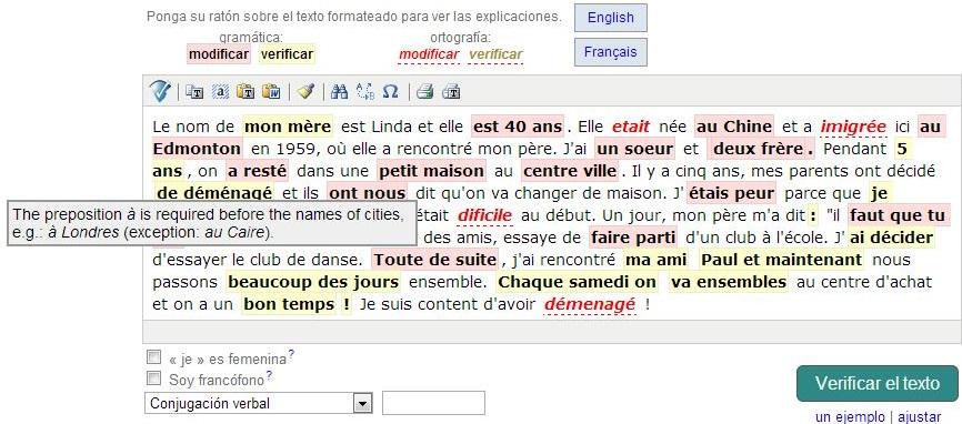 corrector ortográfico francés bonpatron